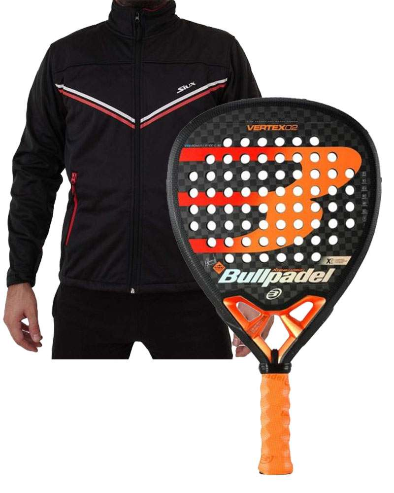 PACK BULLPADEL VERTEX 02 ET SOFTSHELL SIUX FUSION BLACK