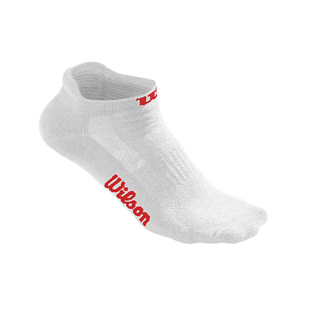 SOCKS WILSON PACK 3PR WHITE NO SHOW SOCK