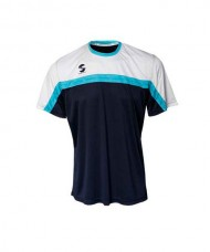 T-SHIRT PADEL SOFTEE CLUB NAVY WHITE SKY BLUE