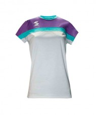T-SHIRT PADEL SOFTEE CLUB WOMAN WHITE VIOLET GREEN