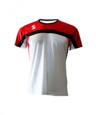CAMISETA PADEL SOFTEE CLUB BLANCO ROJO NEGRO