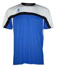 T-SHIRT PADEL SOFTEE CLUB ROYAL WHITE BLACK
