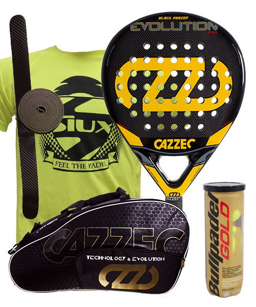 PACK CAZZEC EVOLUTION BLACK AND CAZZEC CERNOK PADEL BAG