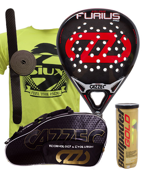 PACK CAZZEC FURIUS PRO AND CAZZEC CERNOK PADEL BAG