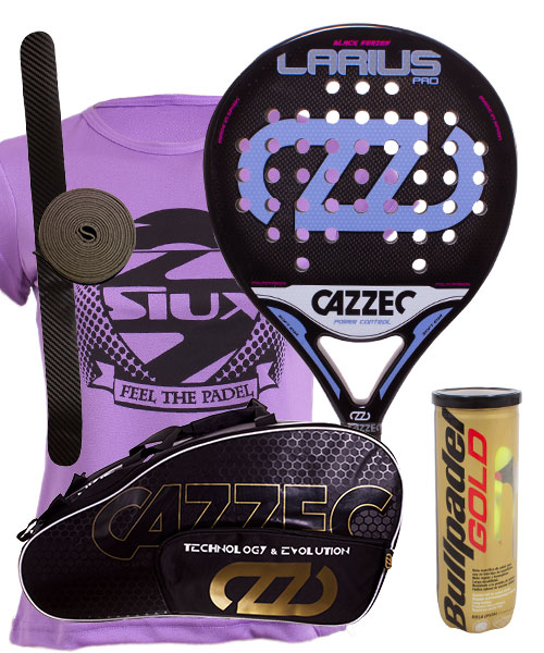PACK CAZZEC LARIUS PRO LADY AND CAZZEC CERNOK PADEL BAG
