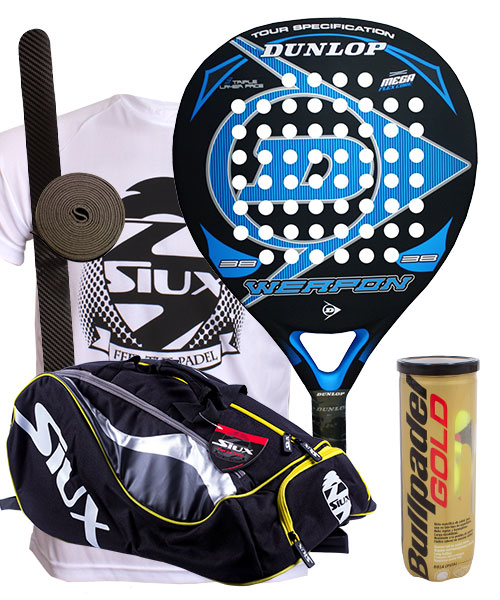 PACK DUNLOP WEAPON Y PALETERO SIUX MASTERCOMBI