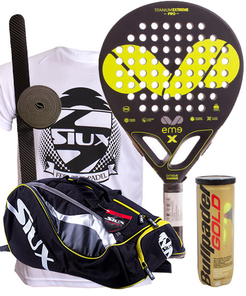 PACK EME TITANIUM EXTREME CONTROL PRO AND SIUX PADEL PACK