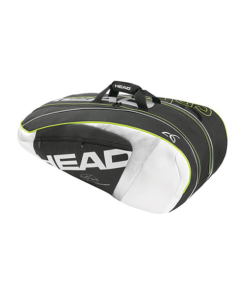 RACKET BAG DJOKOVIC R9 SUPERCOMBI BLACK WHITE