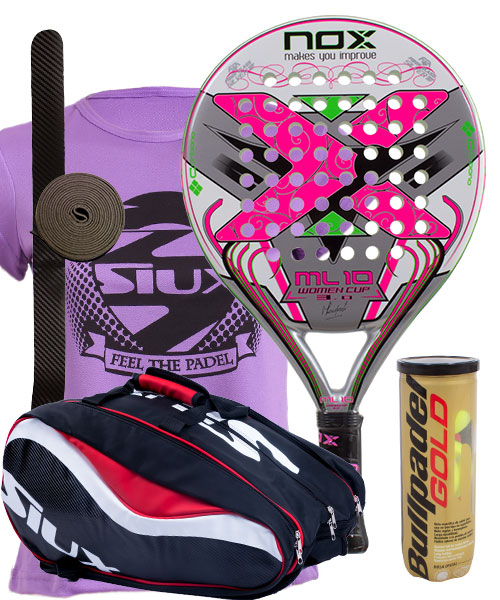 PACK NOX ML10 WOMAN CUP AND SIUX SX SPARTAN PADEL BAG
