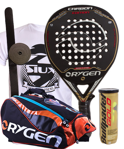 PACK ORYGEN CARBON EDITION AND ORYGEN BEGINING PADEL RACKET BAG