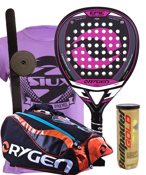 PACK ORYGEN EPIC LADY AND ORYGEN BEGINNING PADEL BAG