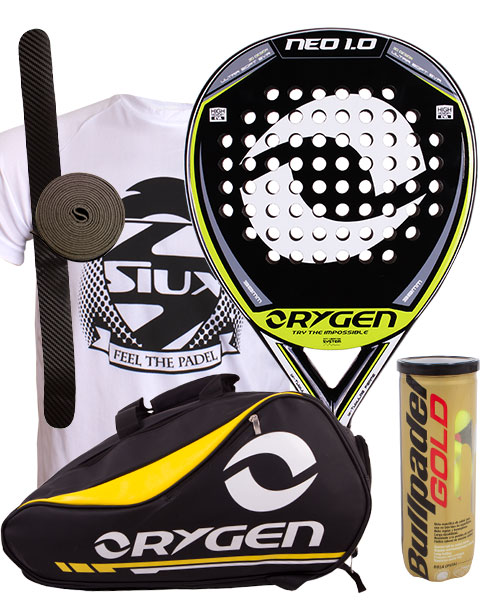 PACK ORYGEN NEO 1.0 AND ORYGEN YELLOW PADEL BAG