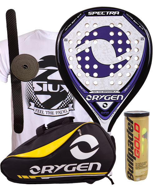 PACK ORYGEN SPECTRA AND ORYGEN YELLOW PADEL BAG