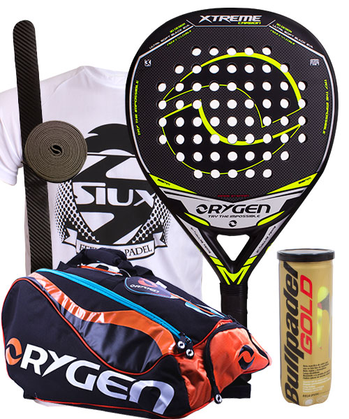 PACK ORYGEN XTREME CARBON AND ORYGEN BEGINNING PADEL BAG