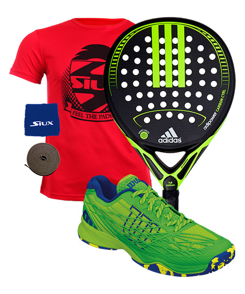 PACK ADIDAS ADIPOWER CARBON CTRL Y ZAPATILLAS WILSON