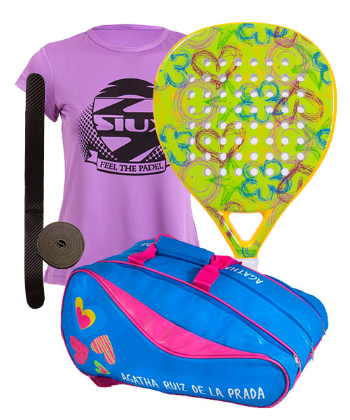 PACK AGATHA JAZMIN AND AGATHA RAINBOW PADEL RACKET BAG