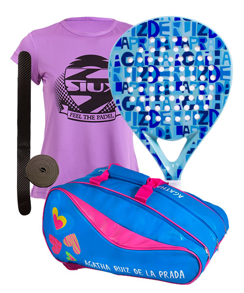 PACK AGATHA LETTERS AND AGATHA RAINBOW PADEL RACKET BAG