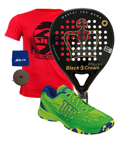 PACK BLACK CROWN PITON Y ZAPATILLAS WILSON KAOS