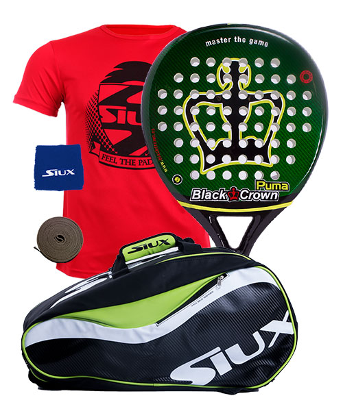 PACK BLACK CROWN PUMA Y PALETERO SIUX SPARTAN
