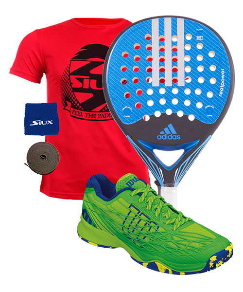 PACK ADIDAS REALPOWER CTRL AND WILSON KAOS PADEL SHOES