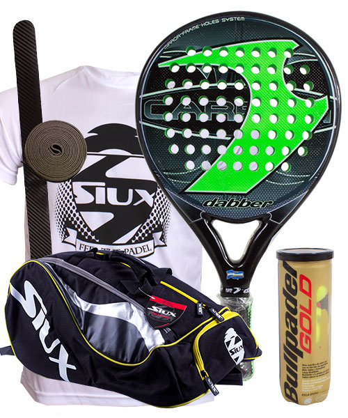 PACK DABBER CARBON 2016 AND SIUX MASTERCOMBI PADEL BAG