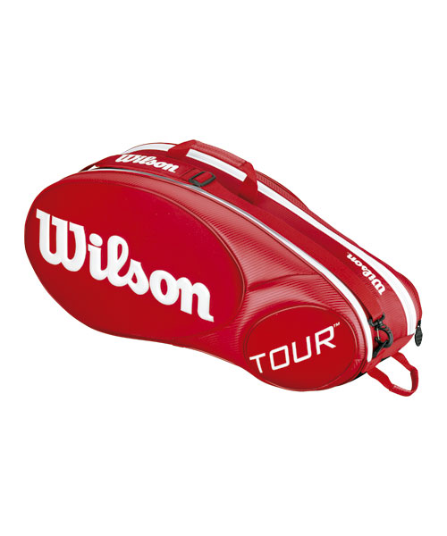 c5a1295f6 Raquetero Wilson Mini Tour Rojo - M�ximo 6 raquetas junior de 66 cm
