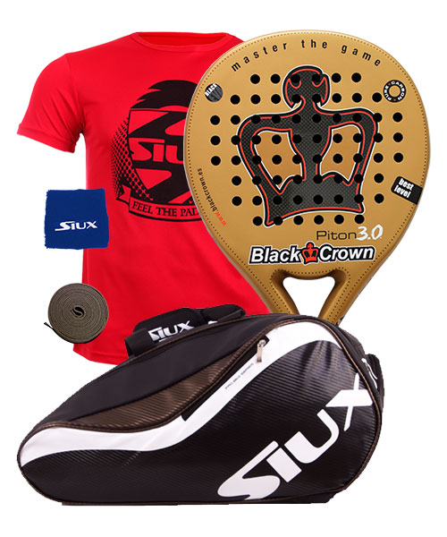 PACK BLACK CROWN PITON 3.0 Y PALETERO SIUX SPARTAN